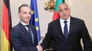 Премиерът Борисов се срещна с външния министър на Германия Хайко Маас