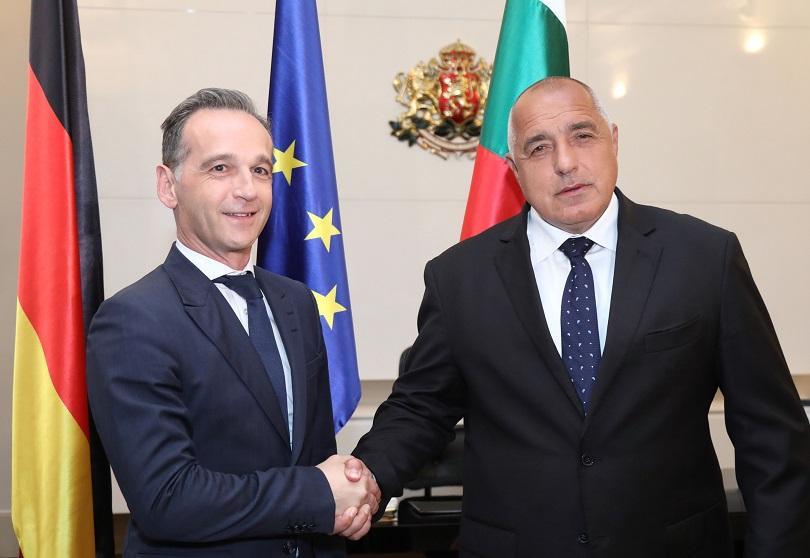 премиерът борисов срещна външния министър германия хайко маас