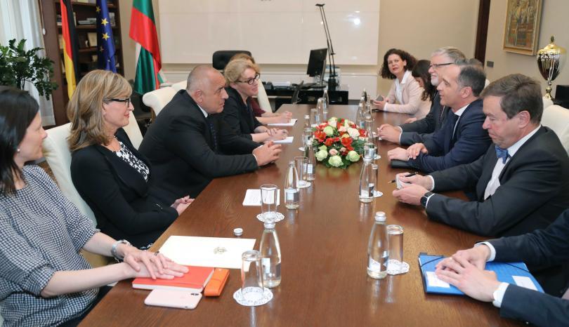 снимка 1 Премиерът Борисов се срещна с външния министър на Германия Хайко Маас