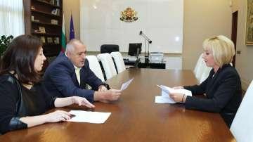 Премиерът Борисов подкрепи законопроектите, внесени в НС от Мая Манолова