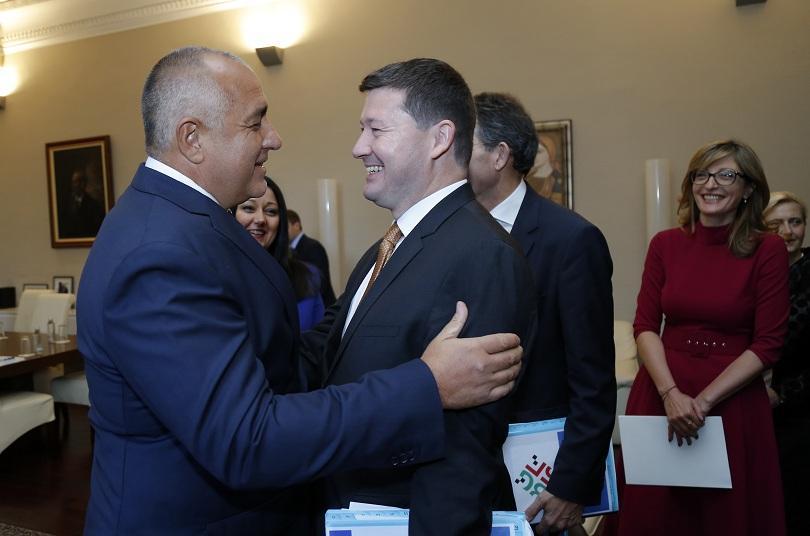 Министър-председателят на България Бойко Борисов и началникът на кабинета на председателя на ЕК Мартин Селмайер