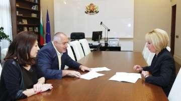 Бойко Борисов даде подкрепа на законопроектите, внесени в НС от Мая Манолова