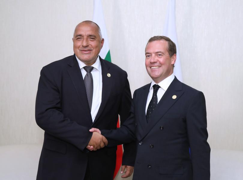 Бойко Борисов се срещна с руския премиер Дмитрий Медведев