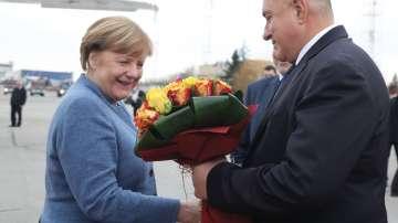 Ангела Меркел пристигна на работно посещение у нас