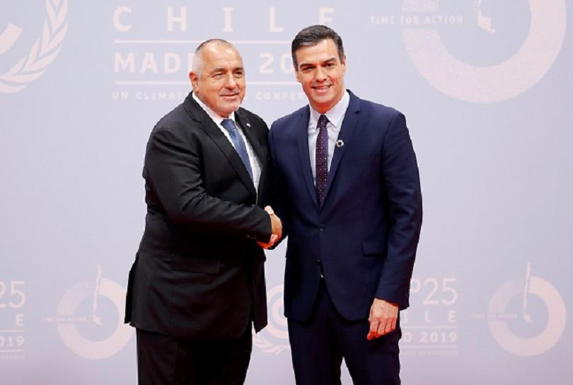 Премиерът Бойко Борисов поздрави Педро Санчес по повод поемането на