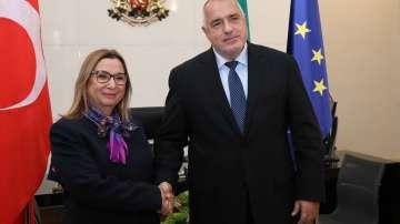 Премиерът Бойко Борисов се срещна с турския министър на търговията