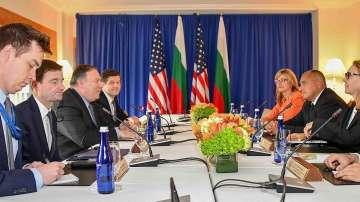 Премиерът Борисов се срещна с Майк Помпео и Антонио Гутериш