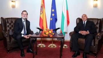 Бойко Борисов разговаря с испанския премиер Мариано Рахой в резиденция Бояна