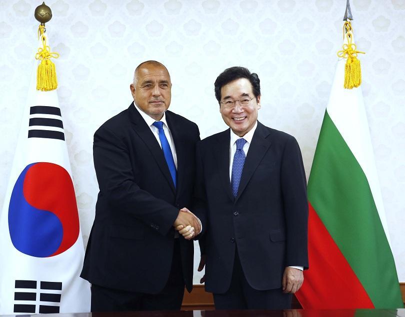 Бойко Борисов се срещна с премиера на Южна Корея