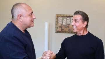 Бойко Борисов се срещна със Силвестър Сталоун (ВИДЕО)