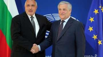 Премиерът Борисов към Антонио Таяни: Нашите успехи са и ваши