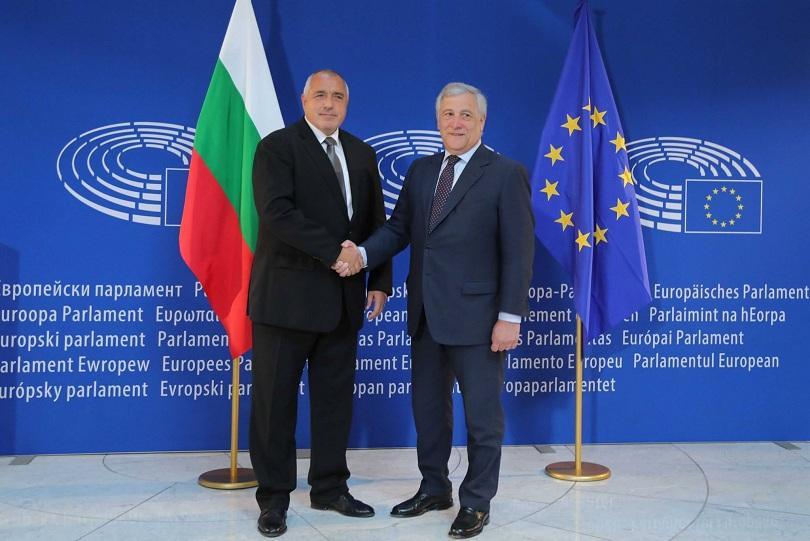 снимка 1 Премиерът Борисов към Антонио Таяни: Нашите успехи са и ваши