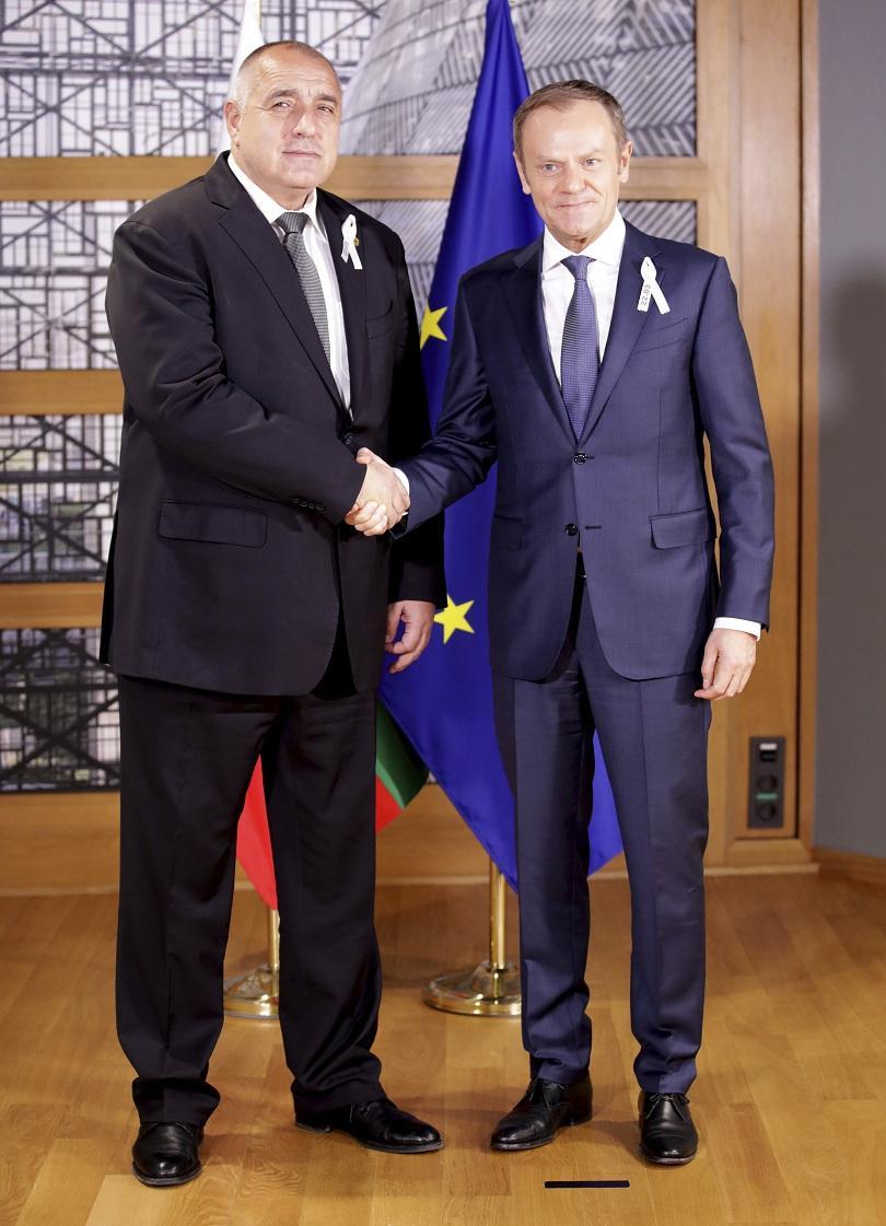 снимка 3 Борисов се срещна с Доналд Туск