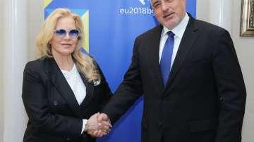 Бойко Борисов се срещна със Силви Вартан (СНИМКИ+ВИДЕО)