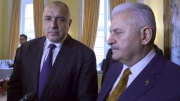 Бойко Борисов се срещна с турския премиер Бинали Йълдъръм