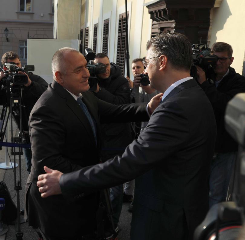 снимка 2 Бойко Борисов се срещна с премиера на Хърватия Андрей Пленкович