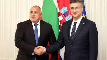 Бойко Борисов се срещна с премиера на Хърватия Андрей Пленкович