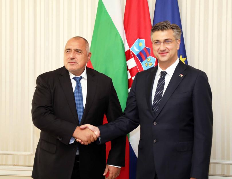 бойко борисов срещна премиера хърватия андрей пленкович