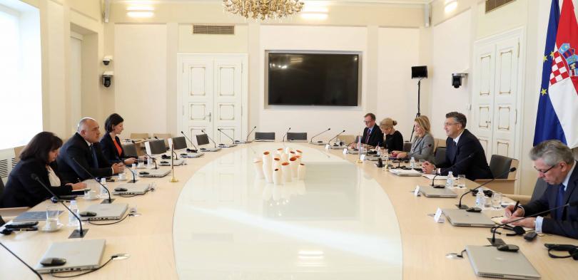 снимка 4 Бойко Борисов се срещна с премиера на Хърватия Андрей Пленкович