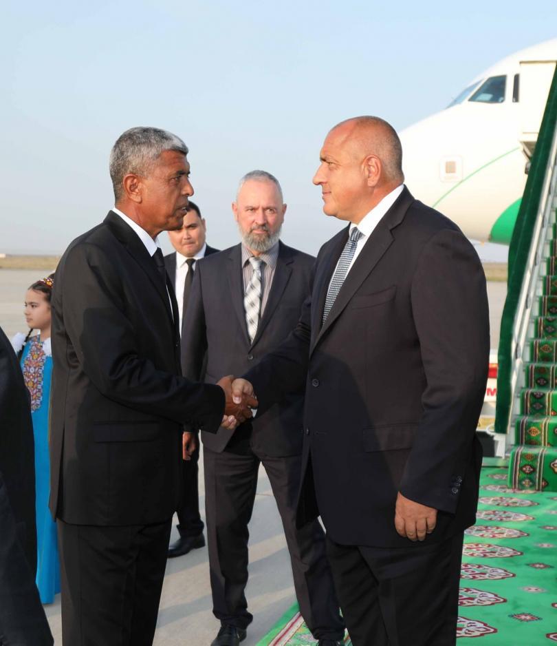 снимка 1 Премиерът Борисов пристигна на официално посещение в Туркменистан