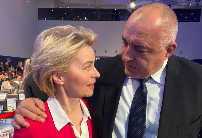 Министър-председателят Бойко Борисов разговаря с председателя на ЕК Урсула фон