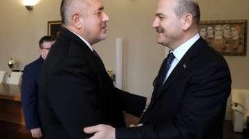 Премиерът Борисов се срещна с турския вътрешен министър
