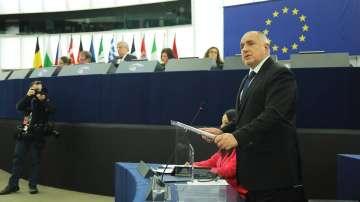 Ето какво каза премиерът Борисов пред депутатите в Европейския парламент