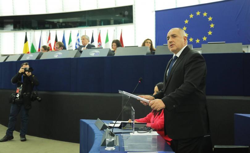 Премиерът Бойко Борисов представи приоритетите на Българското европредседателство пред Европейския