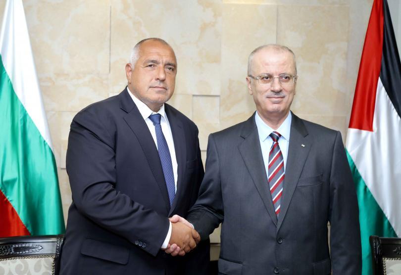 Борисов в Рамала: България подкрепя всички инициативи за мира в Близкия изток