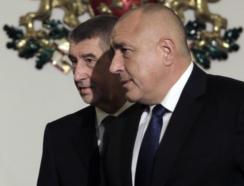 Андрей Бабиш (ляво) и Бойко Борисов (дясно)