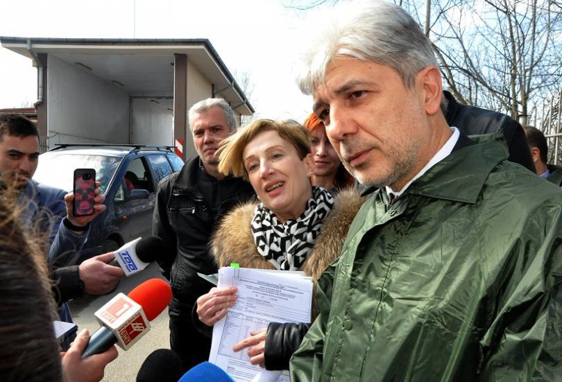 На място беше министърът на околната среда и водите Нено Димов