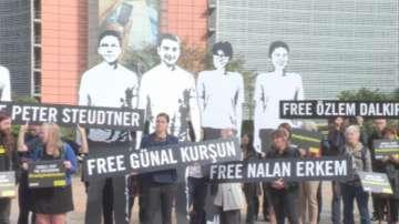 Протести в Брюксел за освобождаване на арестуваните в Турция природозащитници