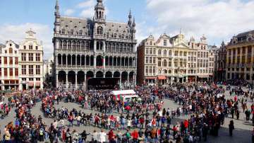 Голямото българско хоро в центъра на Брюксел