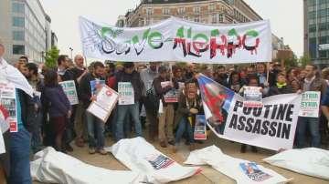 Протести в Брюксел срещу насилието в Сирия