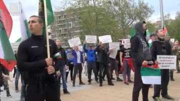 Митинг в подкрепа на Петър Низамов-Перата в Бургас