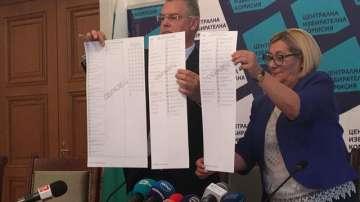 ЦИК показа образците на бюлетините за местните избори