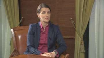 Премиерът на Сърбия Ана Бърнабич пред БНТ: Сърбия гледа към бъдещето