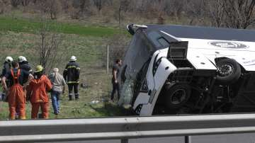 """Автобусът, катастрофирал на АМ """"Тракия"""", е бил технически изправен"""