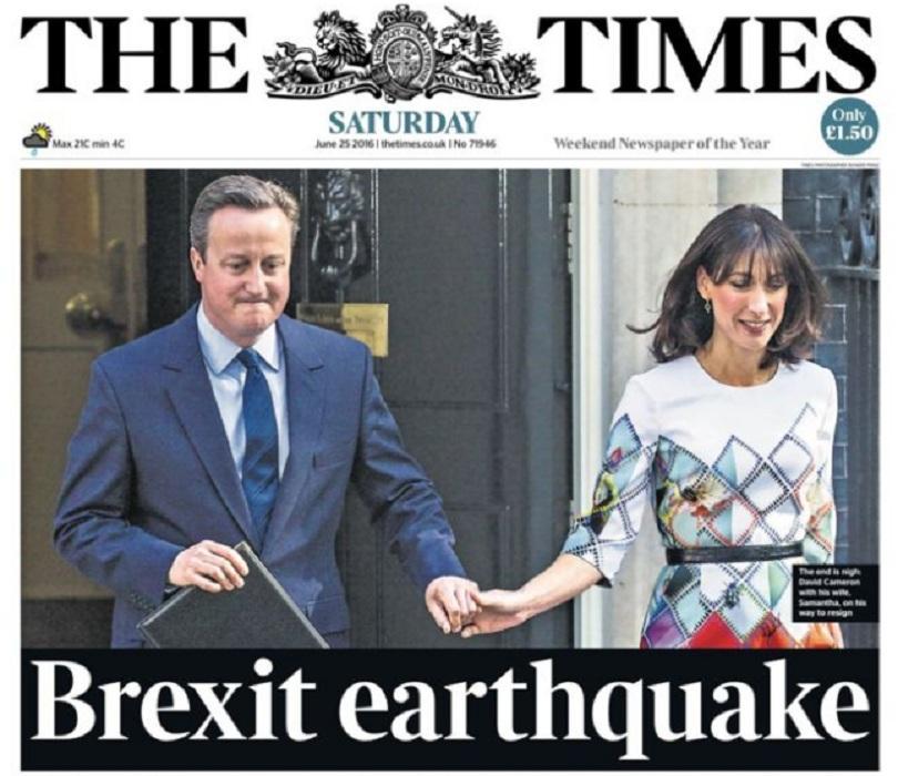 британската преса разделена самата страна брекзита