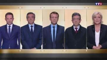 Първи дебат преди президентските избори във Франция