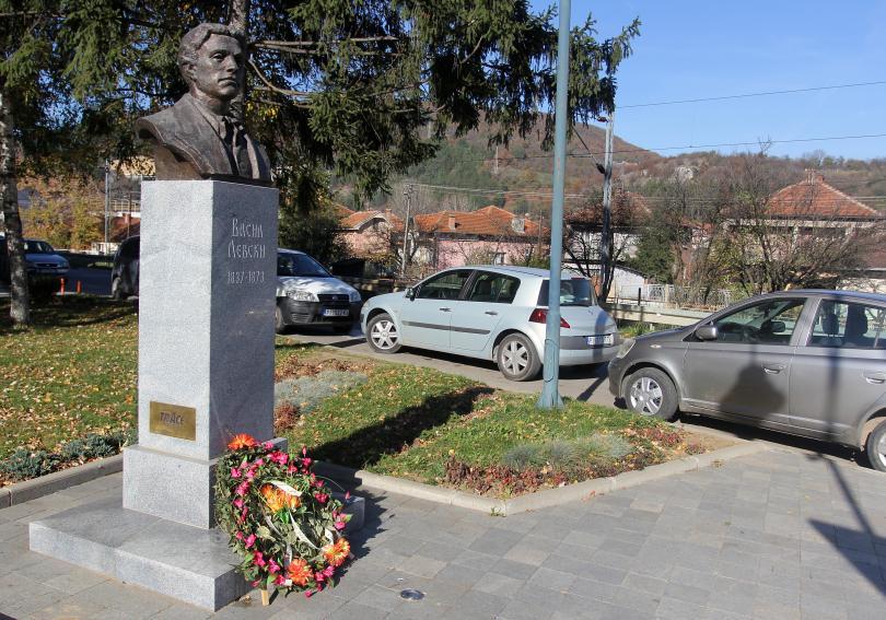 Паметникът на Васил Левски е поставен през 2014 година