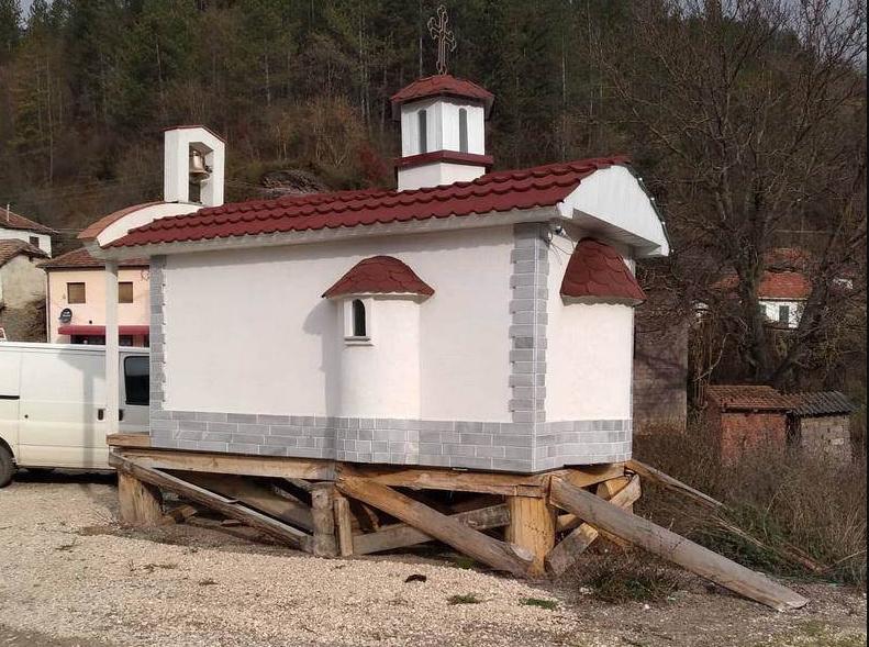 Сръбската православна църква забрани откриването на дарената от България църква
