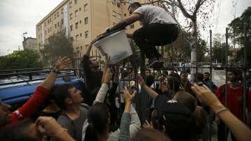 Сблъсъците в Барселона през погледа на нашите репортери (ВИДЕО)