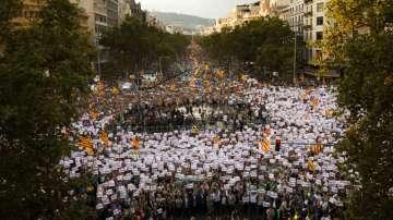 450 000 души се събраха на демонстрация в Барселона