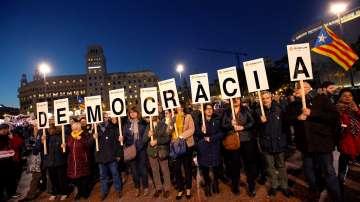 В Барселона протестираха заради процеса срещу каталунските лидери