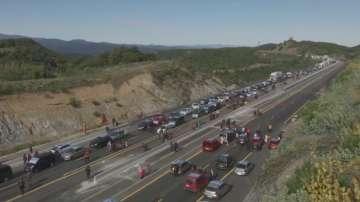 Сепаратисти блокираха магистралата между Испания и Франция
