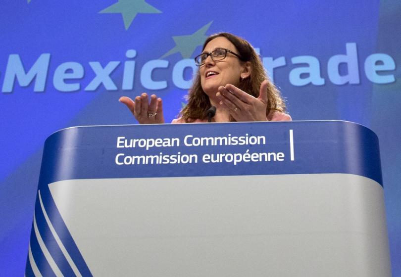 еврокомисарят търговията заплаши сащ тройна реакция въведат мита