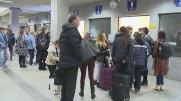 Блокирани пътници на Централна гара София