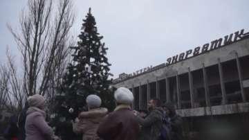 За първи път след аварията в Чернобил: Припят има коледна елха