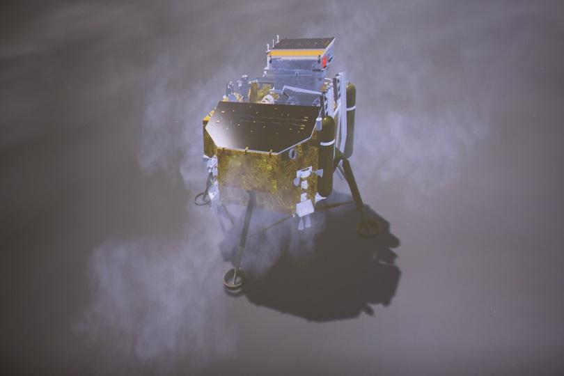 Снимка: Китайски космически апарат кацна на Луната